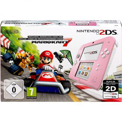 Nintendo Nintendo 2DS Roze/Wit + Mario Kart 7