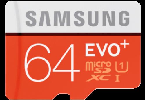 SAMSUNG MicroSD EVO+ 64GB + adapter