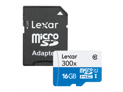 Lexar High Speed 16GB Class 10 300x micro SDHC-kaart