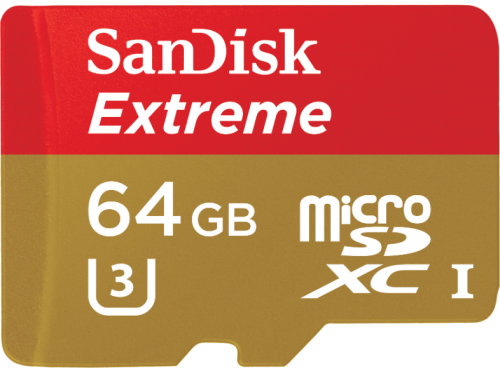 Sandisk Extreme 64 GB microSDHC UHS-I