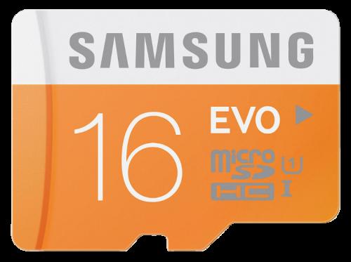 Samsung 16GB, MicroSDHC EVO