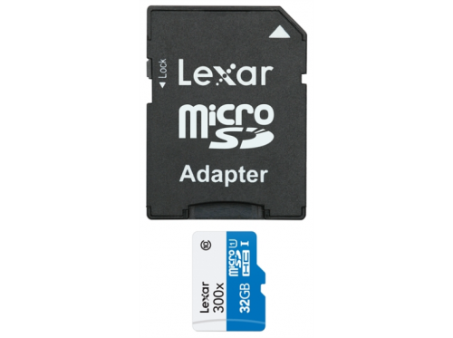 Lexar 32GB MircoSD 300x High speed class 10 + adapter
