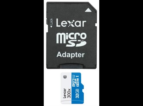 Lexar 32GB MircoSD 300x High speed class 10 + adapter