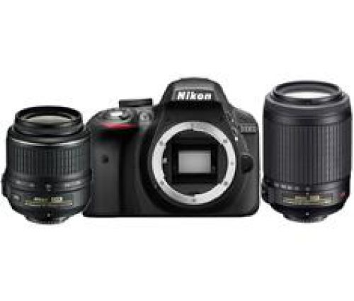 Nikon D3300 zwart + 18-55mm VR II + 55-200mm VR