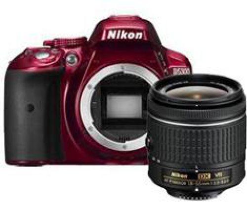 Nikon D5300 rood + AF-P 18-55mm VR