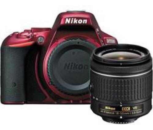 Nikon D5500 rood + AF-P 18-55mm VR