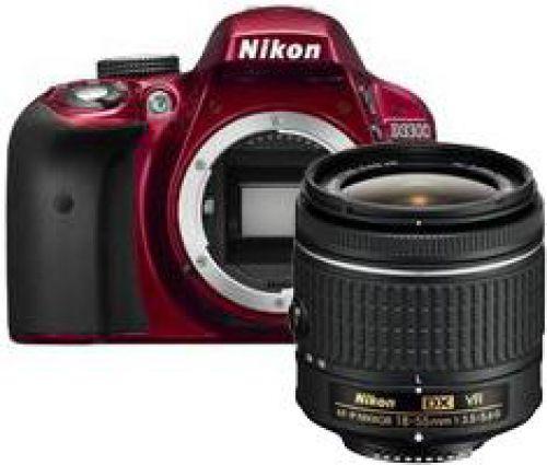 Nikon D3300 rood + AF-P 18-55mm VR